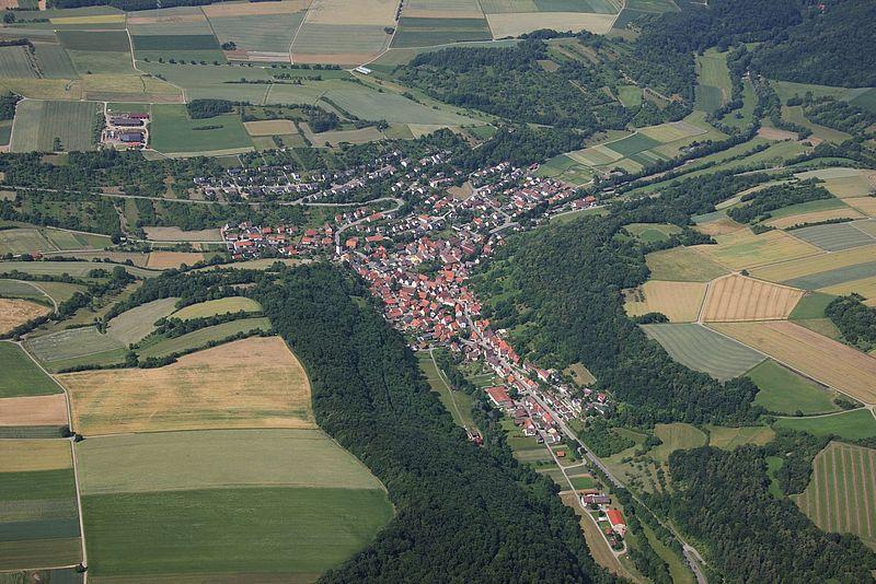 Fotografia area di Iptingen