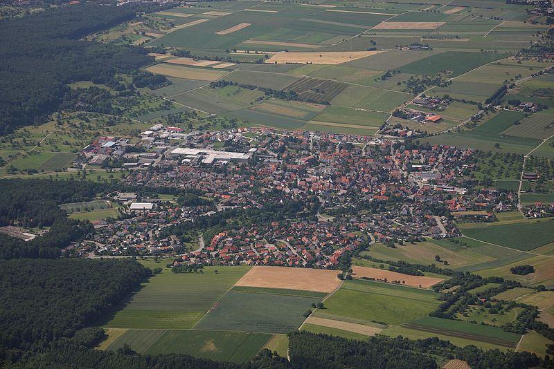 Fotografia area di Wiernsheim
