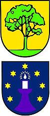 Die beiden Wappen von Pinache und Serres